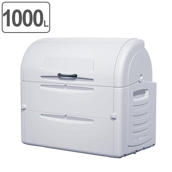 ゴミ大型保管庫 ジャンボペール PEシリーズ PE1000 キャスターなし 1000L ( 送料無料 業務用 ごみ箱 ダストボックス 大型ごみ箱 大きいゴミ箱 大型ゴミ箱 ダストBOX ジャンボ 大容量 屋外 屋外用 排水口 排水口付 )