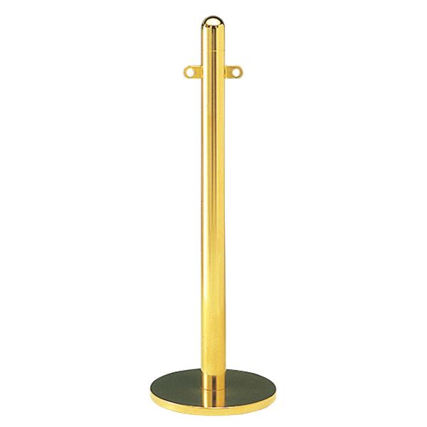 パーティションスタンド バリケードスタンド ポール 直径6.0cm FP-G-4 ゴールド ( 送料無料 ガイドポール ロープパーティション パーティション ガイド スタンド 整列 順番待ち 列 並ぶ 侵入制限 誘導 間仕切り 順路ガード 順路 )