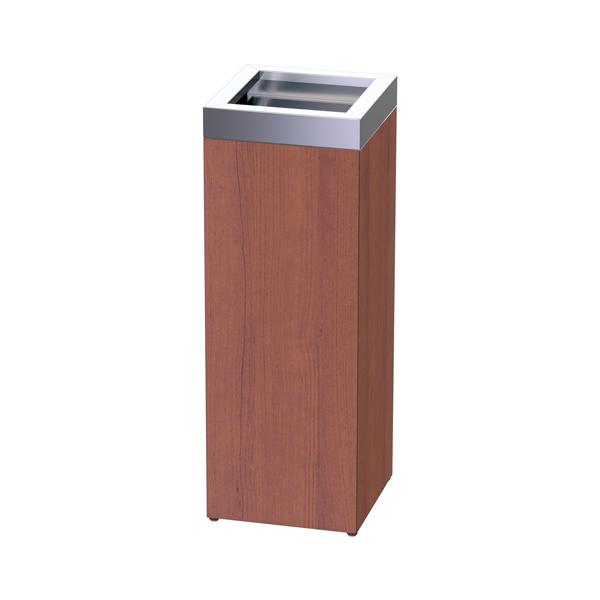 異素材のコンビネーションがモダンなごみ箱 ゴミ箱 業務用 ウッド ROAST オープントラッシュ ( 送料無料 ダストボックス 屑入れ くずかご トラッシュボックス 施設 )