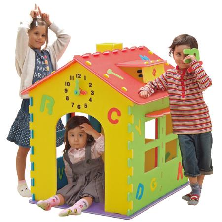 プレイハウス ABCハウス 組み立て キッズハウス ( 送料無料 ままごとハウス 子供用ハウス おもちゃ 家 アルファベット 知育玩具 遊具 組立 おうち ハウス )