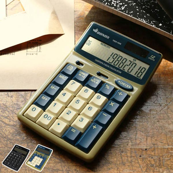 退屈な電卓ではなく、気に入った彼と仕事をしたい 電卓 ダルトン DULTON BONOX カルキュレーター ( 計算機 卓上電卓 カリキュレーター 12桁 オートリプレイ 電池 ソーラー コンパクト 小型 チェック メモリー 便利機能 スマート ブラック ベージュ スタイリッシュ オシャレ )