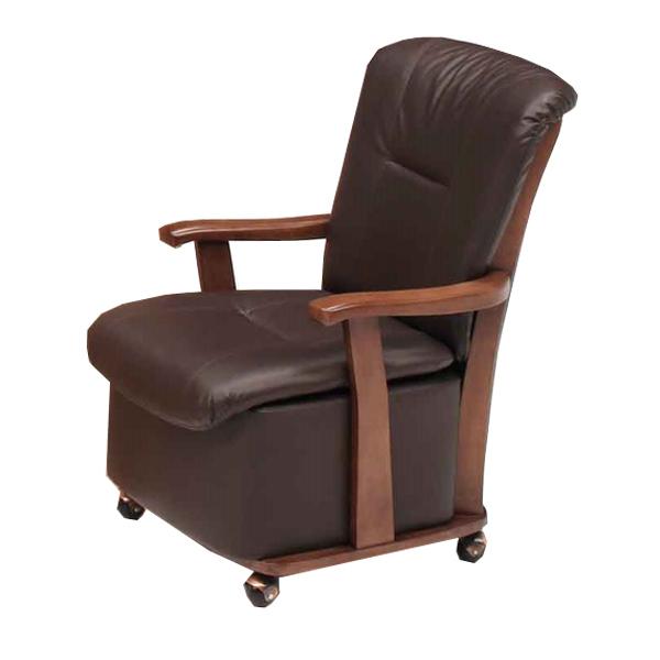 座椅子 こたつ座椅子 肘付 キャスター付 幅57cm ( 送料無料 椅子 チェア ソファ コタツ ハイタイプ こたつ用 ダイニング )