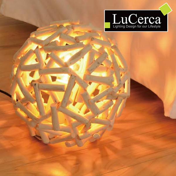 テーブルライト ボーム 1灯 LuCerca ( 送料無料 照明 おしゃれ 北欧 led ダイニング リビング 寝室 間接照明 卓上照明 テーブルランプ 照明 ライト 木製 流木 )