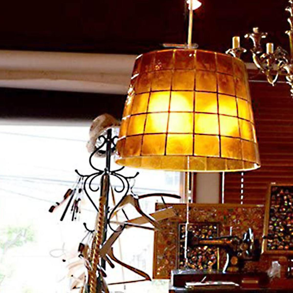 天井 3灯式 アンティーク ペンダントライト 送料無料 天然素材 デザイン照明 LED ) 北欧 アンバー 照明 Roxas レトロ シーリングライト 電球対応 ( LuCerca