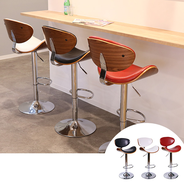 カウンターチェア ハイチェアー ミッドセンチュリー風 KNOX ( 送料無料 ハイチェア チェア チェアー いす イス 椅子 バーチェア バーチェアー デザインチェア デザインチェアー ハイスツール スツール )