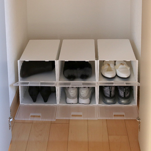 Shoes Box I Zucc Four Set (rearranging Box Goods Compact For One Pair Of  Shoes Storing Box Shoes Case Shoes Box Shoes Shoebox Shoes Storage Case  Clear ...
