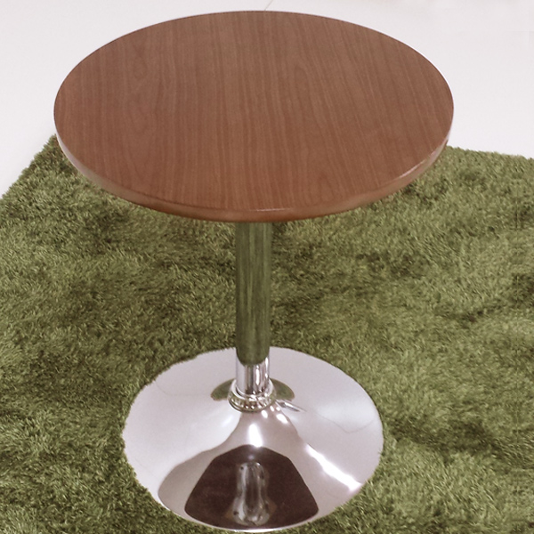 Round Table Walnut Effect Mozo Diameter 50 Cm Height 59 Side Coffee Living Room Type