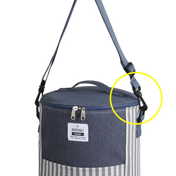 クーラーバッグ ストライプ L ドラム型 ( ランチバッグ 保冷バッグ ショルダーバッグ アウトドア レジャー 運動会 クーラーボックス バッグ クーラー ドラムバッグ 保冷ランチバッグ )