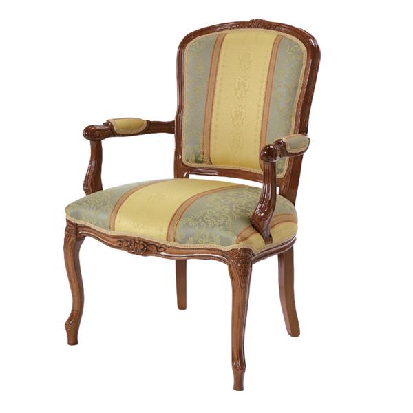 アームチェア ATTICA サロンチェア ( 送料無料 イス ダイニングチェア チェア チェアー 椅子 イタリア製 ヴェローナ ベローナ イタリア家具 イタリアン 猫脚 ネコ脚 天然木製 木製 ひじかけ 肘掛け )