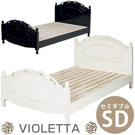 Wooden Bed Violetta Princess Series Double Frame Grates Rococo Gothic VIOLETTA 05P30May15