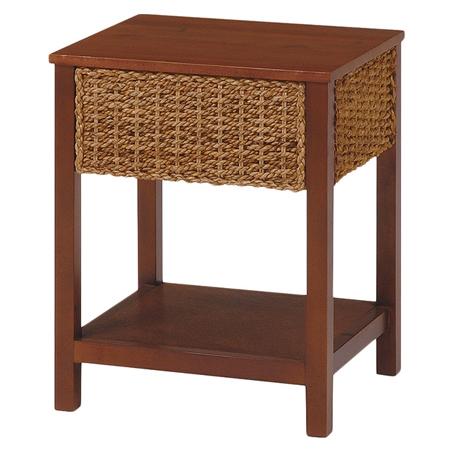 サイドテーブル グランツ アバカ素材 幅40cm ナチュラル ( 送料無料 アジアン家具 マニラ麻 コーヒーテーブル ソファサイド 収納ラック チェスト )