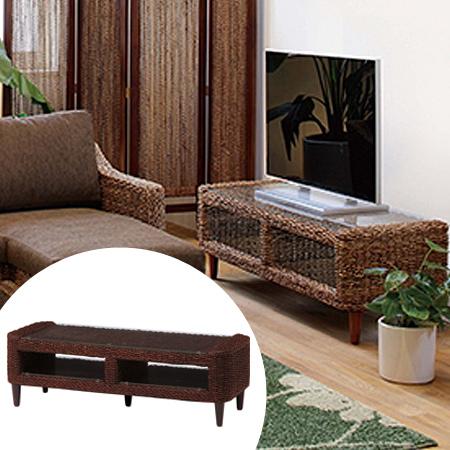 テレビ台 アジアン家具 AVラック グランツ アバカ素材 幅120cm ( 送料無料 TVボード ローボード 中型 大型 )