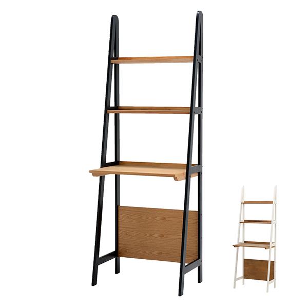オープンラック デスクタイプ 木製 ディスプレイラック 幅64cm ( 送料無料 ウッドラック 本棚 壁面収納 ブックシェルフ オープンシェルフ 飾り棚 天然木 )