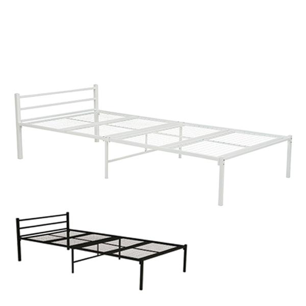 ベッド シングルベッド スチールフレーム パイプベッド ( 送料無料 ベッドフレーム スチールベッド シングル フレーム メッシュ ベッド下 収納 シングルベット フレームのみ スチール 一人暮らし 新生活 )