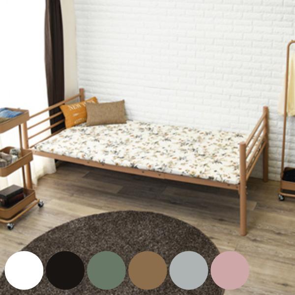 シングルベッド ワイドロングベッド スチールフレーム 高さ調節機能 ( 送料無料 ベッド ベッドフレーム シングル 収納 フレーム パイプベッド フレームのみ 高さ調節 シンプル ブラウン ホワイト グリーン 可愛い おしゃれ )