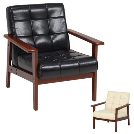 ソファ 椅子 1人掛け シャーク レザー調 合皮 肘付き ( 送料無料 ビンテージ家具風 ソファー パーソナルチェア リビングチェア 黒 白 一人掛け 一人用 )