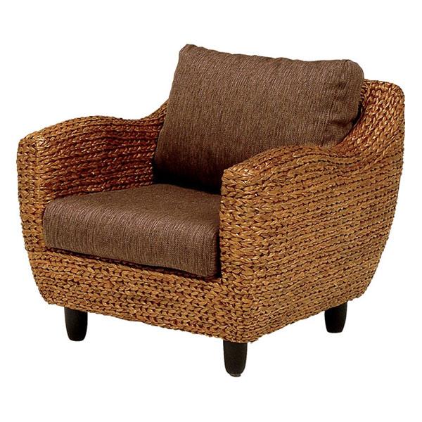 アームチェア ローズマリー ウォーターヒヤシンス製 ( 送料無料 アジアン家具 ホテイアオイ 座椅子 ソファー 椅子 イス ソファチェア リビングチェア 1人掛け )