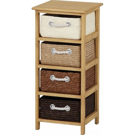 Awesome Laundry Chest Storage Chest Wicker Basket Slim 4 Drawer (storage Rack  Storage Case Living