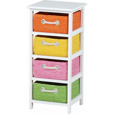 Laundry Chest Storage Chest Wicker Basket Slim 4 Drawer (storage Rack  Storage Case Living Storage Toy Box Toilets Sanitary Childrenu0027s Room Cart  Tallboy ...
