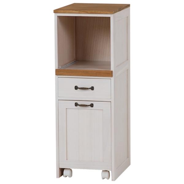 木製キッチンラック スリム 桐収納 幅30cm 高さ85cm ( 送料無料 スライドトレー キッチン収納 引き出し ポット キャスター付き収納ボックス 木目柄 )