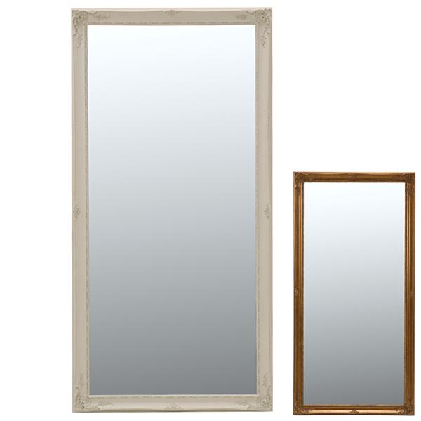 鏡 ミラー スタンドミラー アンティーク調フレーム 90x180cm ( 送料無料 大型ミラー 姿見 全身鏡 かがみ 全身ミラー 玄関 リビング 洗面所 クローゼット 身だしなみ )