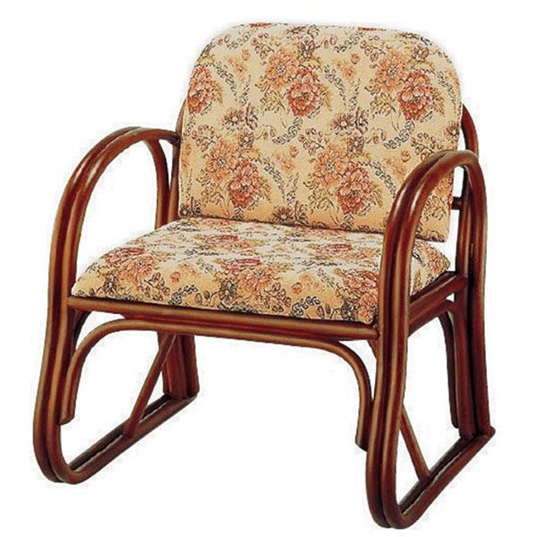 籐 ラタン 座椅子 楽々座椅子 ミドルタイプ ( 送料無料 椅子 いす フロアーチェア イス やわらか クッション 肘掛 チェア 座いす ローチェア アームチェア )