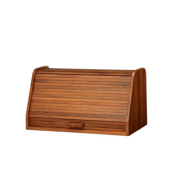 ブレッドケース 卓上収納 天然木 CALMA 幅50cm ( 送料無料 パンケース ブレッドボックス 食パンケース パン 収納 木製 小物入れ ウッドボックス 卓上 木箱 調味料ケース 50センチ 完成品 )
