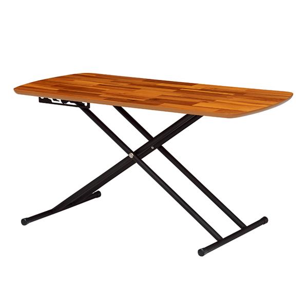 リフティングテーブル 高さ調節 アカシア 幅100cm ( 送料無料 机 テーブル ローテーブル センターテーブル テーブル table 木製 北欧 おしゃれ 折りたたみ 調節 )