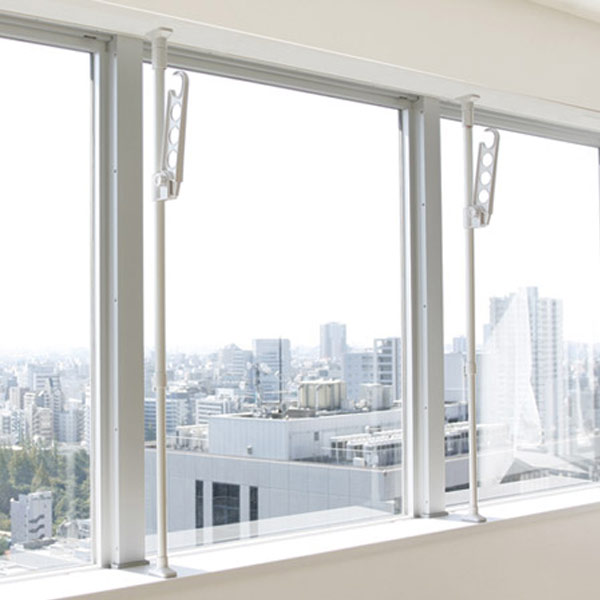 Indoor Clothesline Strained Expression Pole Sash Rod Received Room Dried Bracing 突pa And Hung Laundry