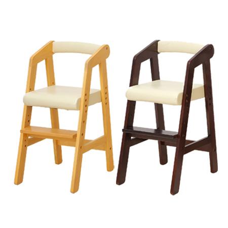 キッズハイチェア 子供用 naKids ( 送料無料 チェアー チェア イス いす 椅子 木 木製 テーブルチェアー 子ども用 こども用 食事用 ダイニング ベビー 赤ちゃん 子供部屋 ダークブラウン ナチュラル キッズ )