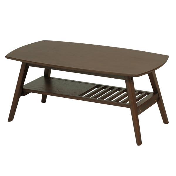 センターテーブル fente ( 送料無料 ローテーブル 棚付き 机 リビングテーブル コーヒーテーブル 天然木 木製 収納スペース付き )