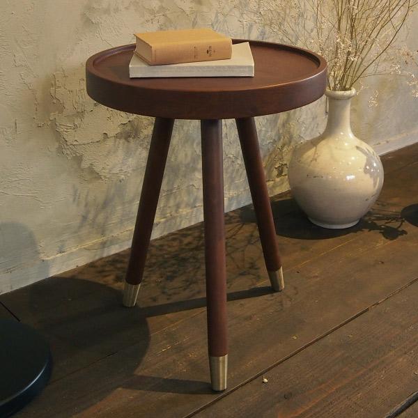 サイドテーブル 天然木 木製 丸型 幅40cm ( 送料無料 コーヒーテーブル 机 テーブル ソファサイド ナイトテーブル つくえ 円形 丸型 ベッド横 ソファ横 リビング 寝室 )