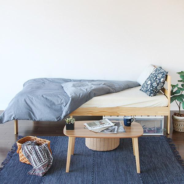 ベッド シングル すのこベッド 木製 天然木 収納 ( 送料無料 ベット すのこ 木製ベッド パイン材 すのこベット シングルベッド 6本脚 巻きすのこ ベッド下収納 通気性 抜群 湿気 カビ 対策 )