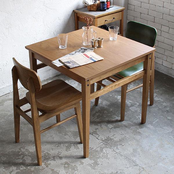 ダイニングテーブル 幅75cm Rasic テーブル 木製 天然木 ( 送料無料 木製テーブル 食卓テーブル 机 つくえ 食卓机 リビングテーブル 2人掛け おしゃれ ヴィンテージ オーク )