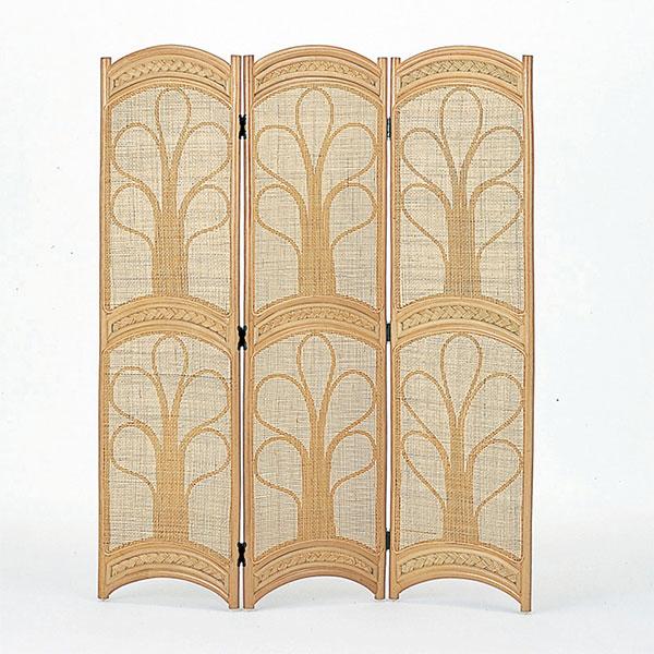 ラタンスクリーン 3連 間仕切り 籐家具 高さ150cm ( 送料無料 衝立 間仕切り パーテーション パーティション アジアン )