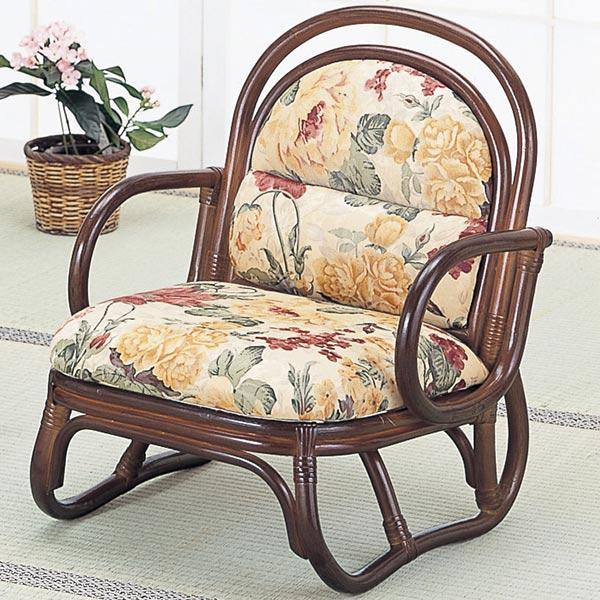 籐〔ラタン〕 安楽座椅子 ロータイプ 送料無料( イス チェア アジアン )