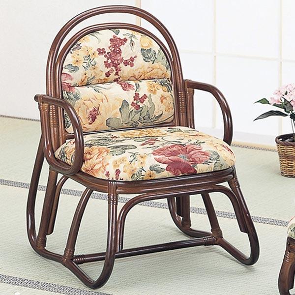 ラタンチェア ハイタイプ 椅子 籐家具 座面高37cm( 送料無料 イス チェア アジアン )