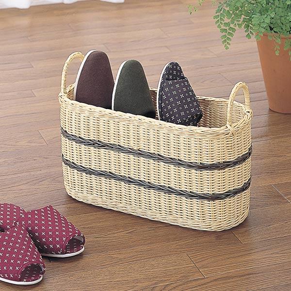 Rattan  rattan  slippers basket (I put up Asian basket slippers natural  material made of slippers stands slim storing slippers room shoes rack  entrance ... b43c162fc