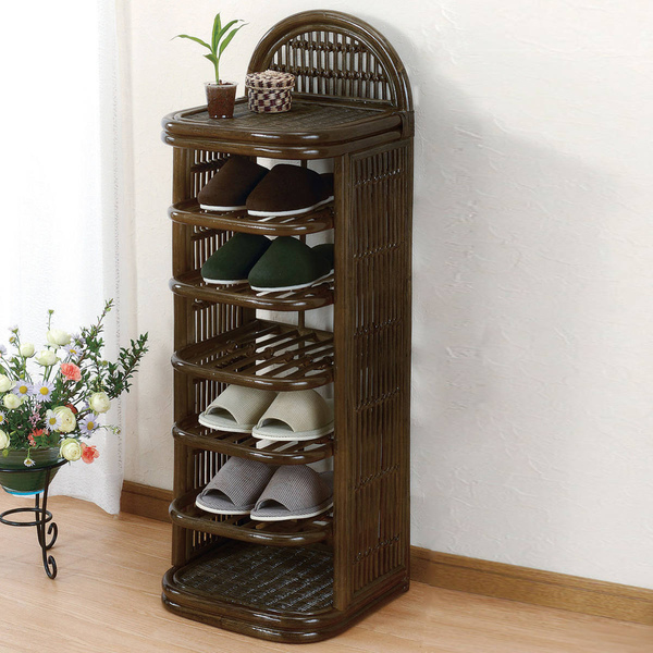 Wicker Latin Slippers Rack 6 Stage Type Stand Put Shoe Storage Room Shoes Door
