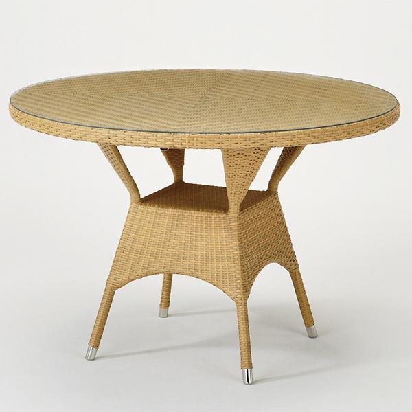) 籐家具 ガラス天板 円形 ラタンテーブル ローテーブル 直径110cm( センターテーブル 送料無料 アジアン