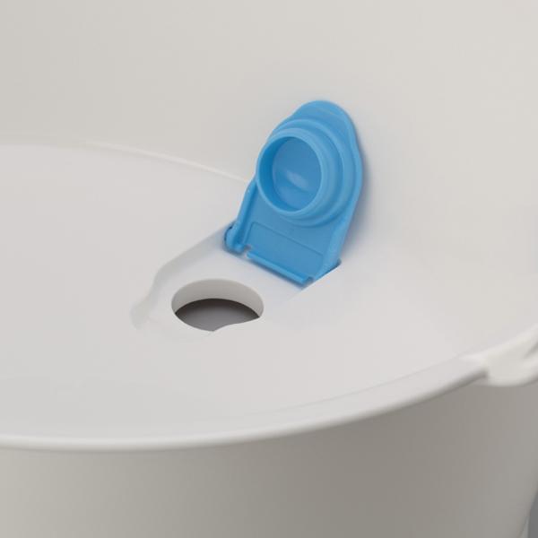 ウォッシュタブ 12L タライ 洗濯用 排水栓付き 楕円形 オーバル型 洗い桶 持ち手付き ( たらい バケツ バスケット おしゃれ 足湯 ホワイト 白 プラスチック 底栓 水抜き栓 簡単 水抜き 洗いおけ 日本製 )