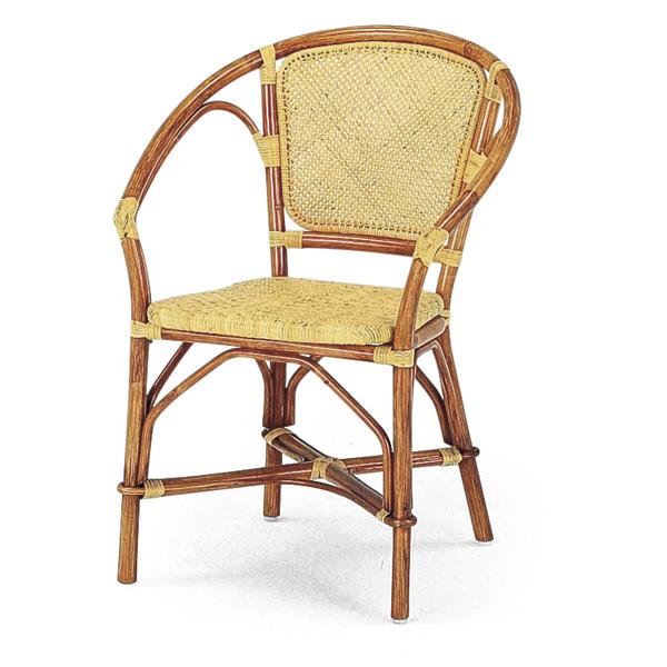 籐 ダイニングチェア ラタン アームチェア 幅59cm ( 送料無料 ラタン家具 アジアン家具 チェア 椅子 イス いす チェアー ダイニングチェアー アームチェアー リゾート 手編み )