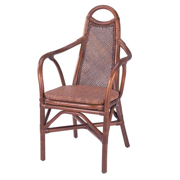 籐 ダイニングチェア ラタン アームチェア 幅54cm ( 送料無料 ラタン家具 アジアン家具 チェア 椅子 イス いす チェアー ダイニングチェアー アームチェアー リゾート 手編み )