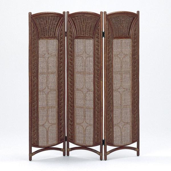 籐 ついたて スクリーン 3連 S-125 高さ139cm ( 送料無料 衝立 ラタン家具 アジアン家具 間仕切り パーテーション パーティション 屏風 洋室 和室 収納 コンパクト 畳める )
