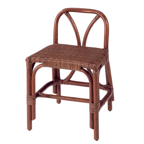 籐 スツール 背もたれ付 ラタン製 座面高40cm ( 送料無料 椅子 イス いす ラタン家具 アジアン家具 座椅子 座いす 座イス チェア チェアー 手編み )