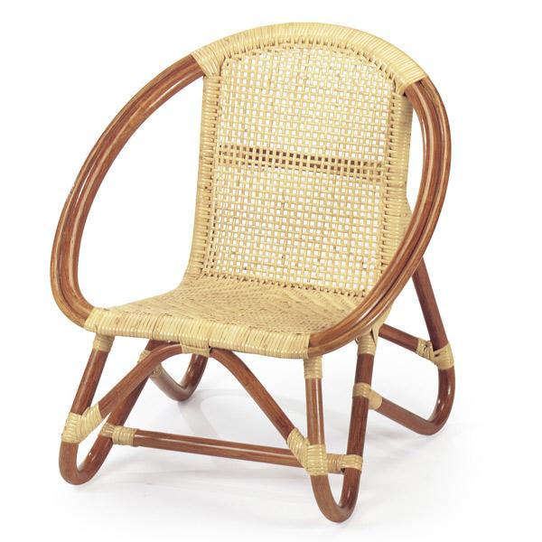 籐 子供いす 肘付 コンパクトチェア 幅51cm ( 送料無料 ラタン家具 アジアン家具 チェア 椅子 イス いす チェアー アームチェア キッズ用 リゾート 手編み )
