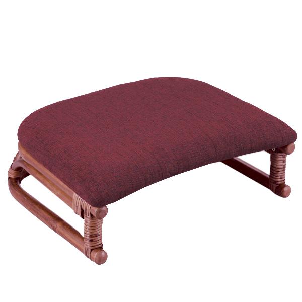 籐 正座椅子 座面布張り クッション付 SA206DA 幅45cm ( 送料無料 ラタン家具 アジアン家具 座椅子 座いす 椅子 イス いす ラタン アジアン リゾート クッション 正座いす )