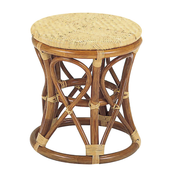 籐 スツール 丸型 ラタン製 S26A 座面高41cm ( 送料無料 椅子 イス いす ラタン家具 アジアン家具 ラタン アジアン チェア チェアー 手編み リゾート )