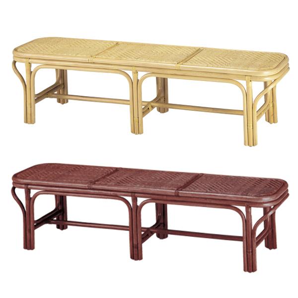 籐 ベンチ 3人掛け ラタン製 SW65N 幅160cm ( 送料無料 椅子 イス いす ラタン家具 アジアン家具 ラタン アジアン チェア チェアー 手編み 屋内 室内 腰掛け )