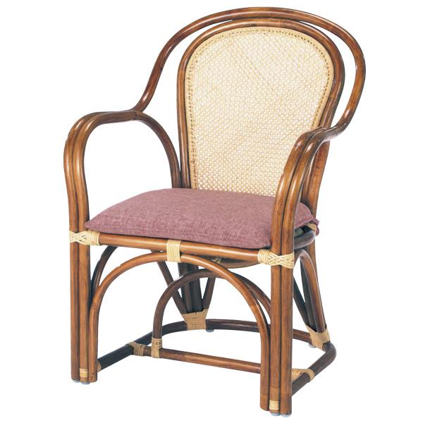 籐 ラタンチェア アームチェア 36-3A 座面高41cm ( 送料無料 アジアン家具 ラタン家具 椅子 チェア イス いす アームチェアー チェアー 肘掛け 肘かけ アジロ編み 多用途 )